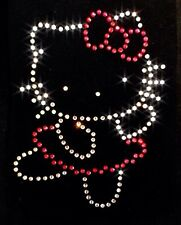 Hello Kitty Iron On Hot Fix Rhinestone Crystal Diamante Transfer Motif