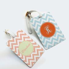 Customize Personalized Luggage Tag, Chevron Monogram Name Bag Tag, Custom Gift