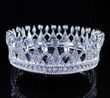 ABt11986s Dignity Full Crown Austrian Crystal Rhinestone Tiara Pageant Silver