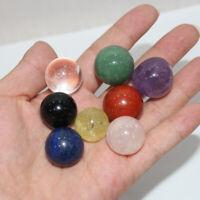 8Pcs 20mm Natural Gemstone Ball Crystal Healing Sphere Rock Stones Decor Massag