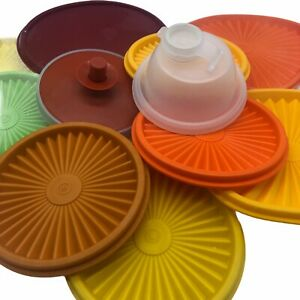 Tupperware Lids Various Sizes and Colours Vintage & New