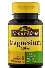 2Pc Nature Made Calcium Magnesium Help Relax Mineral 250mg Tablets 200 Tablets