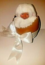 """Anne Geddes Baby in Egg Bunny African American Doll Chocolate Egg 5"""""""