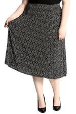 Geometric Plus Size Maxi Skirts for Women