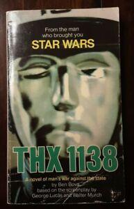 THX 1138 Ben Bova 1978 Warner Books Vintage Sci Fi PB Book Star Wars