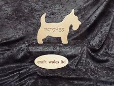 Scotish Highland Terrier Mdf independiente Personalizado Scotie De Madera Grabado