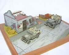 Tamiya 1:35 US Army WILLYS JEEP & DODGE TRUCK City Invasion DIORAMA Built Kit