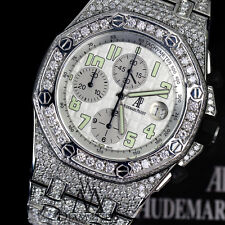 Audemars Piguet AP Royal Oak Offshore 44mm Custom Diamonds Iced Out Steel