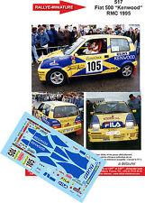DÉCALS 1/32 réf 517 Fiat 500 Priscille de Belloy Monte Carlo 1995