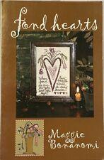 "Blackbird Designs w/ Maggie Bonanomi ""Fond Hearts"" Cross Stitch Chart OOP"