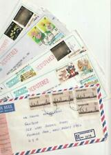 Singapore  Postal History and Stamps 5 REGISTERED Covers to US