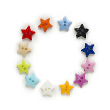 100pcs 2 hole Star Resin Buttons Sewing Scrapbooking Home Clothing Decor 12mm