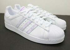 Adidas Superstar Shell Toes Cloud White / Purple BD7429 Men's Size 12.5