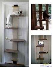 Sleep Scratching Wall Door Furniture Cat Condo Tree Shelf Bed Toy Climber Pet