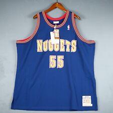 813b5d1a3eaa 100% Authentic Mitchell   Ness Dikembe Mutombo Nuggets NBA Jersey Size 60  4XL