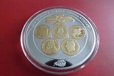 *Giganten Medaille ca70mm mit Gold/Silber Veredelt PP*Abschied v.Deutschen Mark.