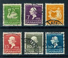 Denmark Scott # 246-51 Complete Set Used Fine (S36)