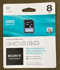 Sony (SF-8N4/TQ3) - 8GB SDHC SD Memory Card.....NEW!!!