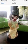 Ceramic Clown With 2 Faces (Rare)