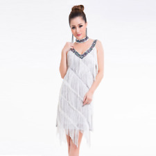 8ac8d049a HJ01# Fringe Latin Dance Sequins V-neck Costume (Dress, Necklace) 9
