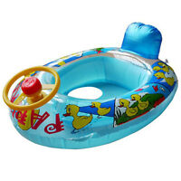 Baby Kids Inflatable Steering Wheel Swiming Trainer Seat Float  Car Ring 1-4Y