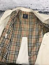 Ladies Burberry Genuine Vintage Double Breasted Long Trench Coat Beige | Large