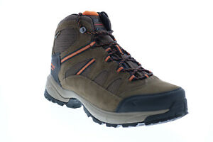 Hi-Tec Ridge Mid RIDGEMID Mens Brown Leather Lace Up Hiking Boots