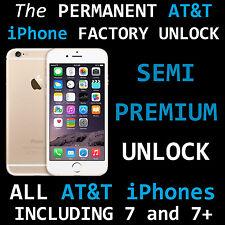 SEMI PREMIUM FACTORY UNLOCK AT&T IPHONE 7 plus 7+ SE 6S 6 Plus 5c 5 4 ATT unpaid