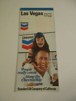 Stamped 1973 Chevron Las Vegas Nevada City Street Gas Station Road Map~Box J
