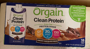 Orgain Organic Protein Shakes Creamy Chocolate Fudge - Case of 18 - 11 Fl oz.