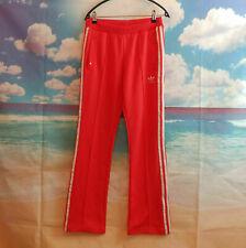 adidas red orange Firebird Tracksuit Trousers. UK women's size 8 W28 L31