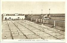 OLD POSTCARD OF - OPEN AIR SWIMMING POOL, WESTCLIFF-ON-SEA - TUCK.
