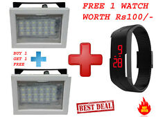 GR 786 Rechargeable 18 LED SQR yellow Emergency Lights.(Buy 1 Get 1 Free)