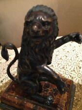 Heavy Estate Bronze Lion Awesome Piece