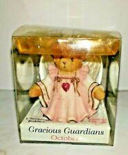 Miniature Cherished Teddies October Garnet Gracious Angel Figurine Original Box
