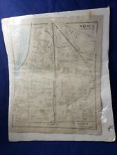 "NH 17x14"" NEW HAMPSHIRE Nashua Map residents voting antique 200' scale date?"