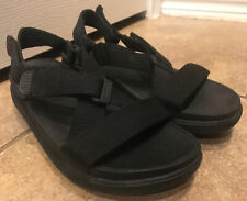 FitFlop Sling ll Sandals Women's Black Adjustable Strap  381-001 Size 8