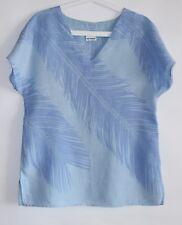 Marimekko MIKA PIIRAINEN Short Sleeve Linen Palm Twigs Shirt Size 38 / 10