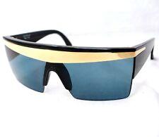 GIANNI VERSACE Sunglasses 676 852 black gray gold baroque rectangular wrap