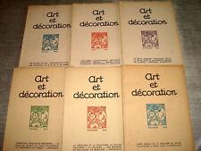 ART & DECORATION 1923 2e Sem. 6/6 ART DECO RUHLMANN FLANDRIN BATIK JAVA KHMER