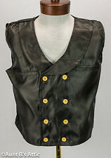 Steampunk Vest Black Double Breasted Shawl Collar Gentleman's Victorian Vest