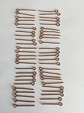 80 Pieces straight (Copper colour) eye pins - 2.4cm