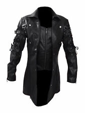 Latest Arrival - Steampunk Men's Gothic Trench Coat Leather Jacket
