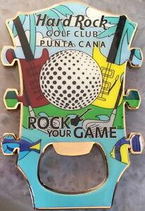 "Hard Rock Hotel PUNTA CANA ""Golf Club"" Guitar Head MAGNET Bottle Opener CLUBS!"