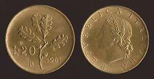 20 LIRE 1981 RAMO DI QUERCIA - ITALIA