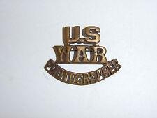 c0265s WW 2 US War Photographer Civilian brass pin single R10D
