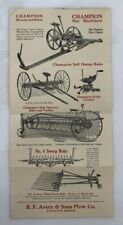 1925 AVERY Plow CHAMPION HARVESTING Machinery FARM Antique ADVERTISING Brochure