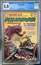 Showcase #30 (1961) CGC 5.0 -- 1st Aquaman tryout issue; Origin; Ramona Fradon