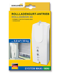 Schellenberg Rollladengurt-Antrieb RolloDrive 55 MINI / MAXI elektrisch