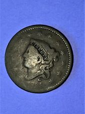 1834 1C Coronet Head Large Cent - Large 8 / Small Stars